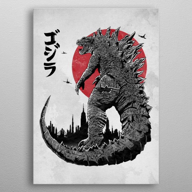 For Godzilla fans metal poster