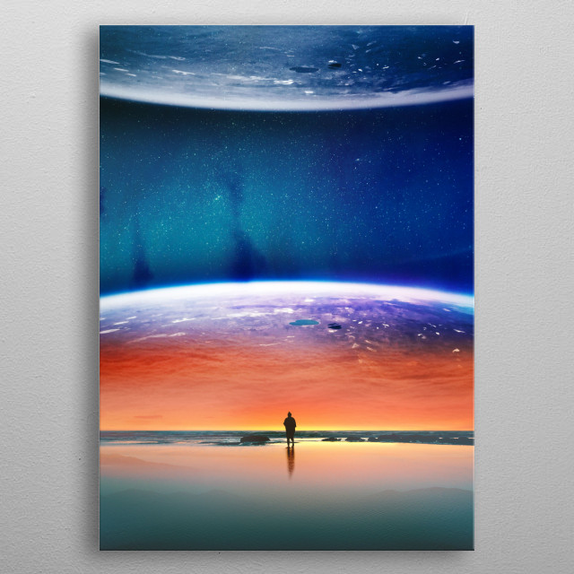 Solaris is a colorful planet eclipse! metal poster