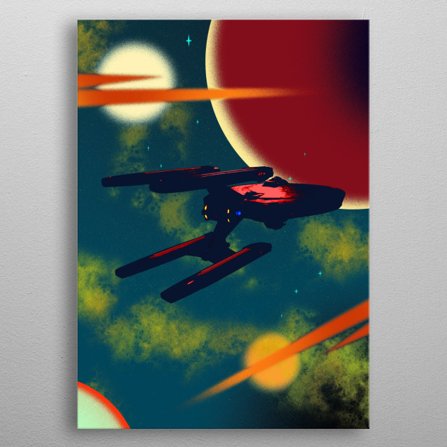 USS Stargazer metal poster