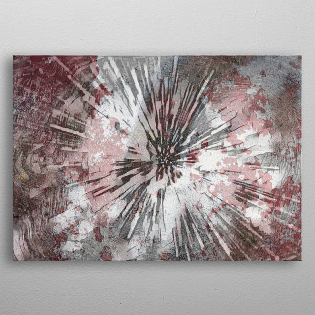 abstract background for any decoration metal poster