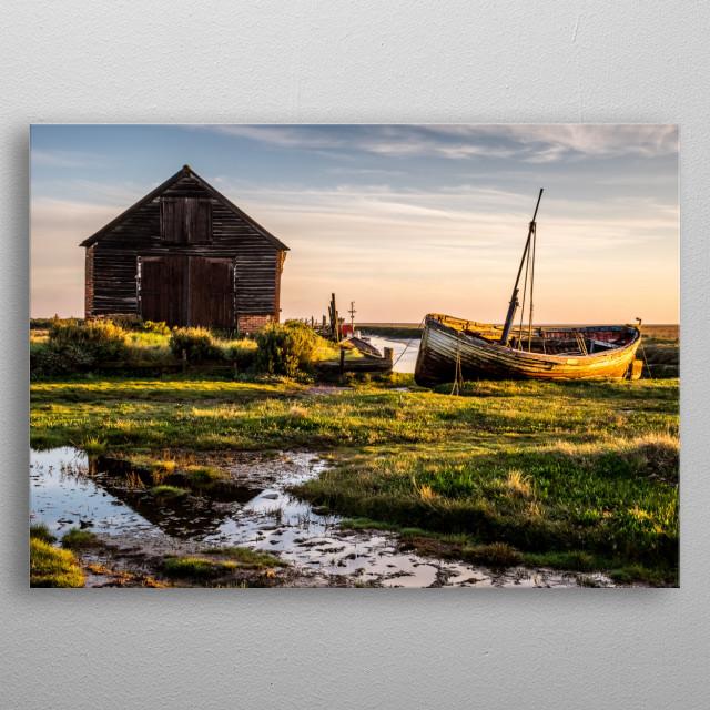 Thornham Coal House Sunrise along the North Norfolk Coast metal poster