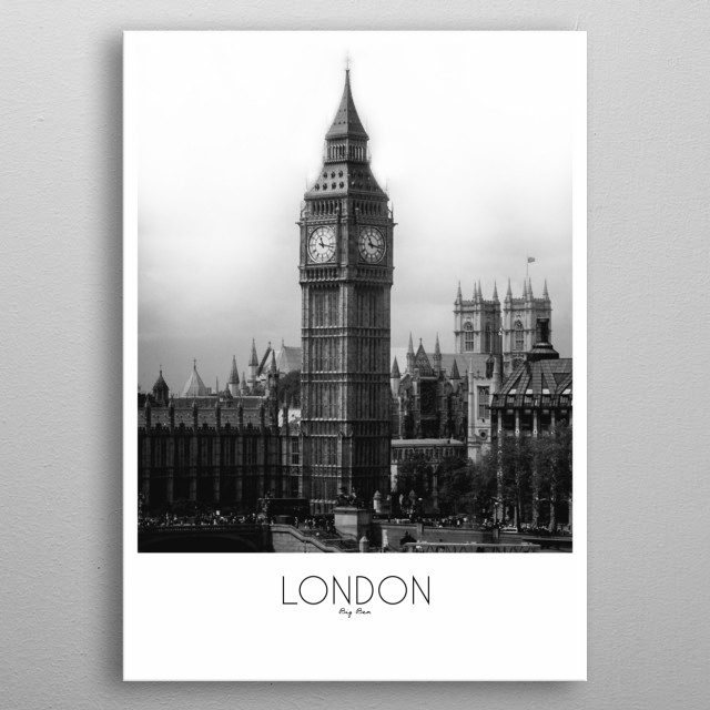 London City metal poster