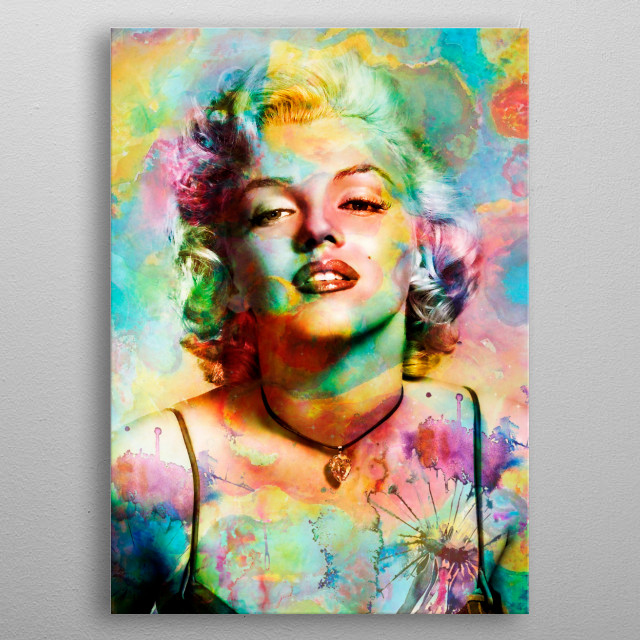 Art inspires the life and work of Marilyn Monroe metal poster