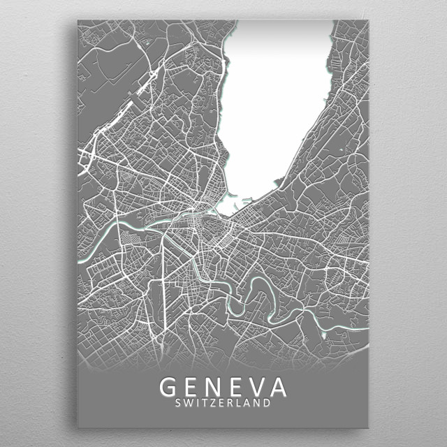 Geneva Switzerland Map by City Map Art Prints | metal ... on italy map, geneva metro map, brussels belgium map, geneva airport map, tpg geneva map, vienna map, world map, greece map, europe map, moscow russia map, lake geneva map, delhi india map, amsterdam netherlands map, geneva map frankenstein, trent map, copenhagen denmark map, france map, geneva al map, barcelona map, kiev ukraine map,