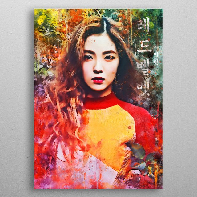 Irene, is a South Korean singer, actress, and television host. She is a member and leader of the South Korean girl group Red Velvet. metal poster