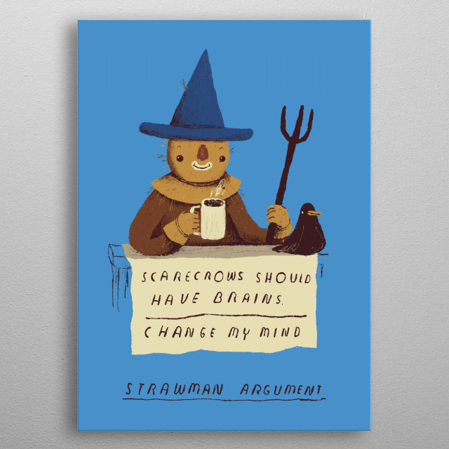 scarecrow puns and memes!  metal poster