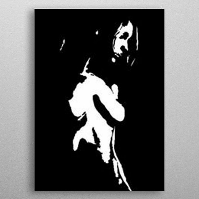 This was an acrylic on canvas of someone very dear to me. Loved the shadows created using black and white metal poster