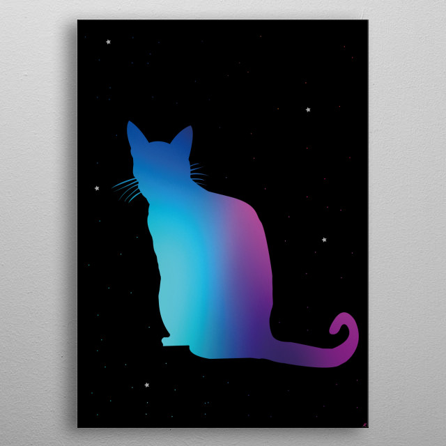 Inspiración como amante de los animales, en especial los gatos metal poster