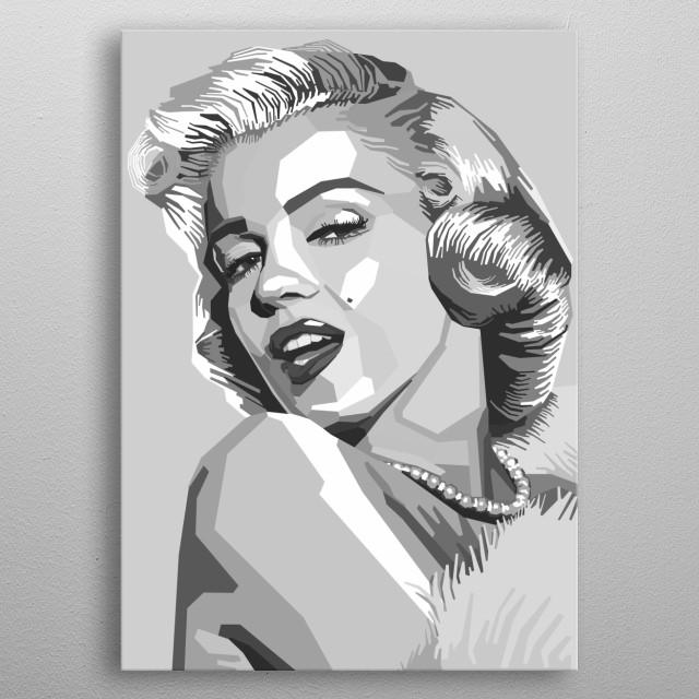 Portrait of Marilyn Monroe. metal poster
