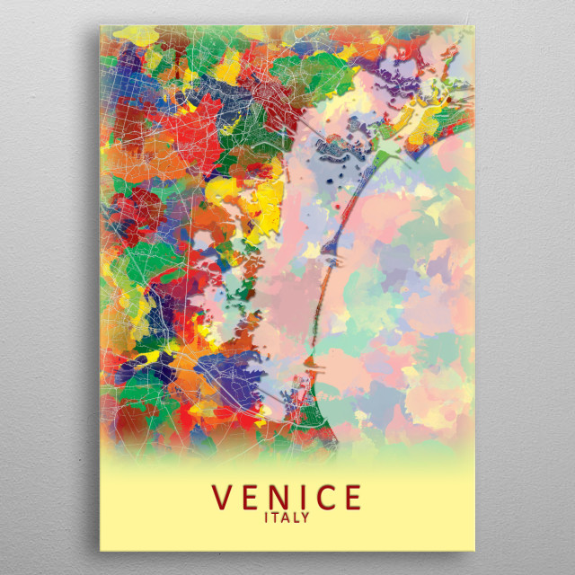 Venice Italy City Map by City Map Art Prints | metal posters ... on city of beijing china map, city of geneva switzerland map, city of buenos aires argentina map, city of havana cuba map, venezia italy map, city of izmir turkey map, city of venice florida map, city of marseille france map, city of budapest hungary map, city of doha qatar map, city of manila philippines map, city of bangkok thailand map, city of dubrovnik croatia map, city of nassau bahamas map, city of kiev ukraine map, city of germany map, city of edmonton canada map, city of reykjavik iceland map, city of zurich switzerland map, city of spain map,