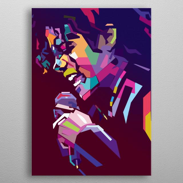 illustration of the king of pop michael jackson  metal poster