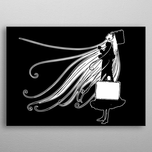 Artwork inspired by Maetel from the anime Galaxy Express 999. metal poster