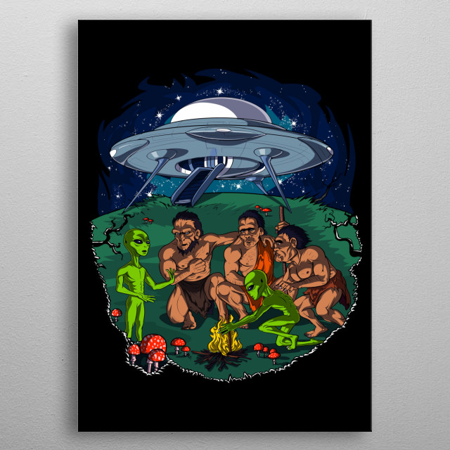 This Aliens Conspiracy Theory metal poster makes a perfect gift for any science fiction lover. metal poster