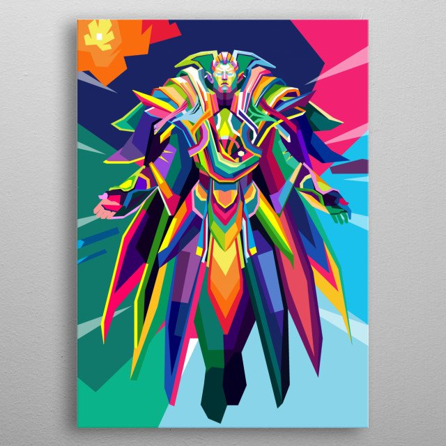 Invoker is a ranged intelligence hero who is very difficult to master. He is unique in that he possesses a total of 14 abilities in his arse metal poster