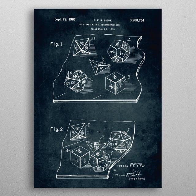 Patent art metal poster