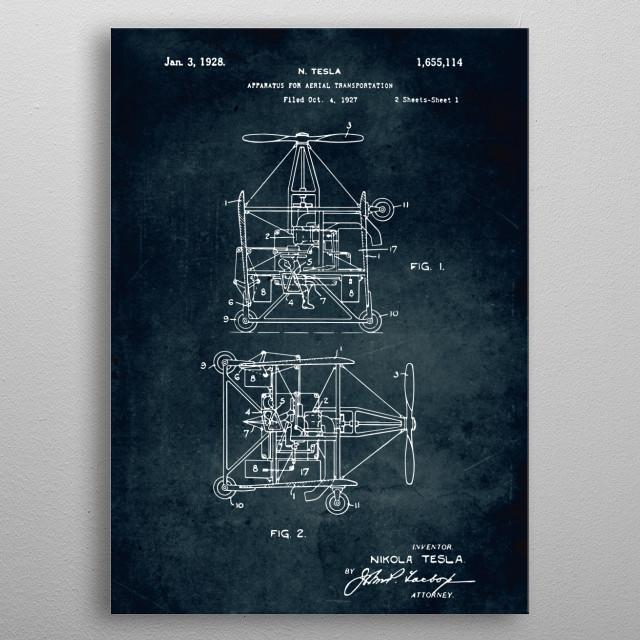 No448 Apparatus for aerial transportation - Patent art metal poster