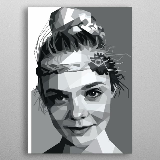 Portrait of Elle Fanning. metal poster