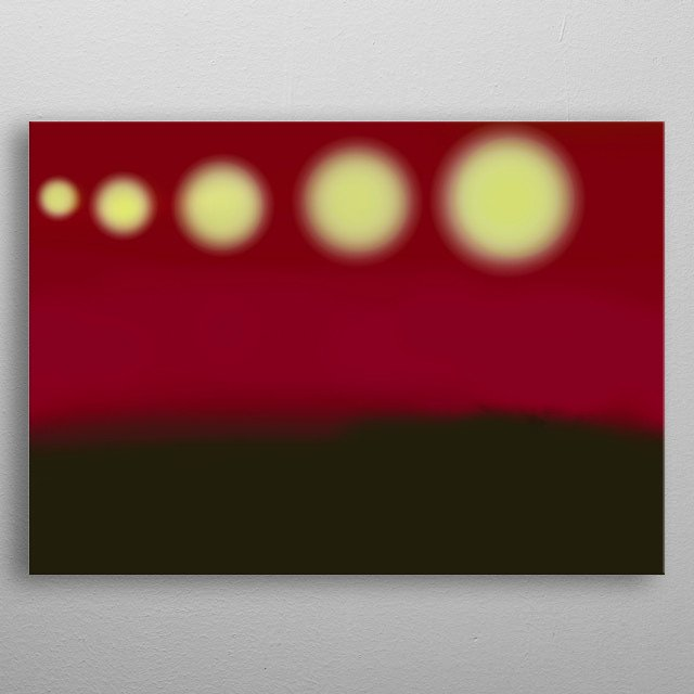 the illustration  of simple universe with five star. art is simple and applying .  metal poster
