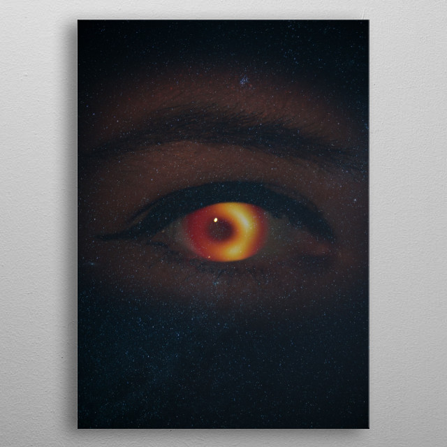Black hole space eye  Photography manipulated with PSD.  metal poster
