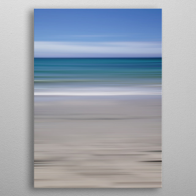 Photography of a lovely beach in Spain. Belongs to my seascape-series: Mare.  metal poster