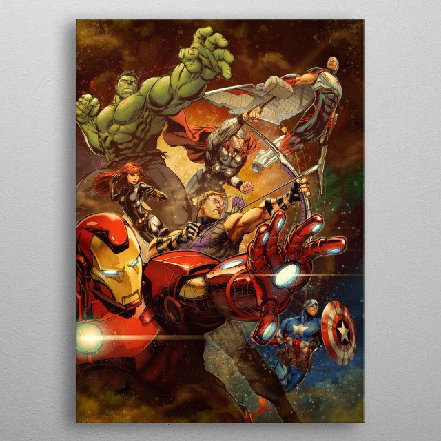 Action metal poster