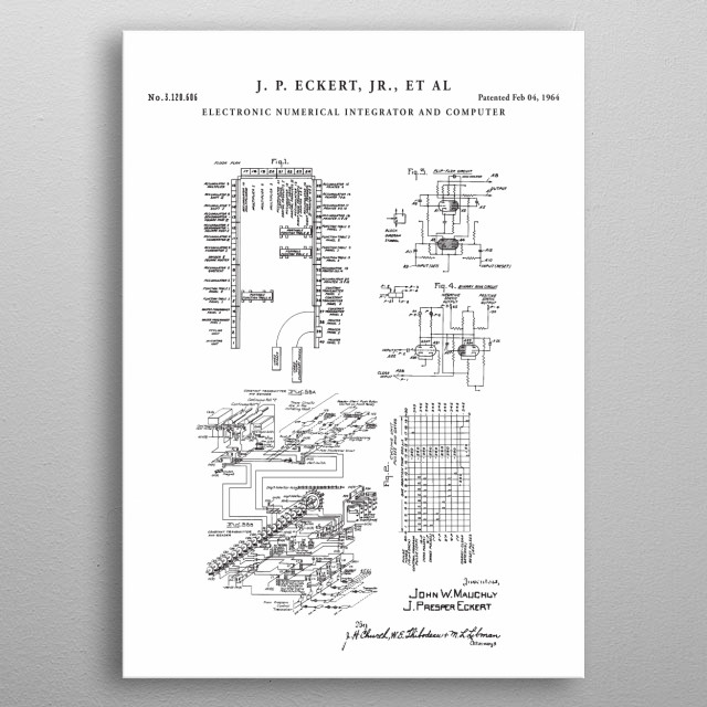 This patent has been restored and digitally enhanced to remove as many flaws as possible while maintaining the integrity of the original doc metal poster
