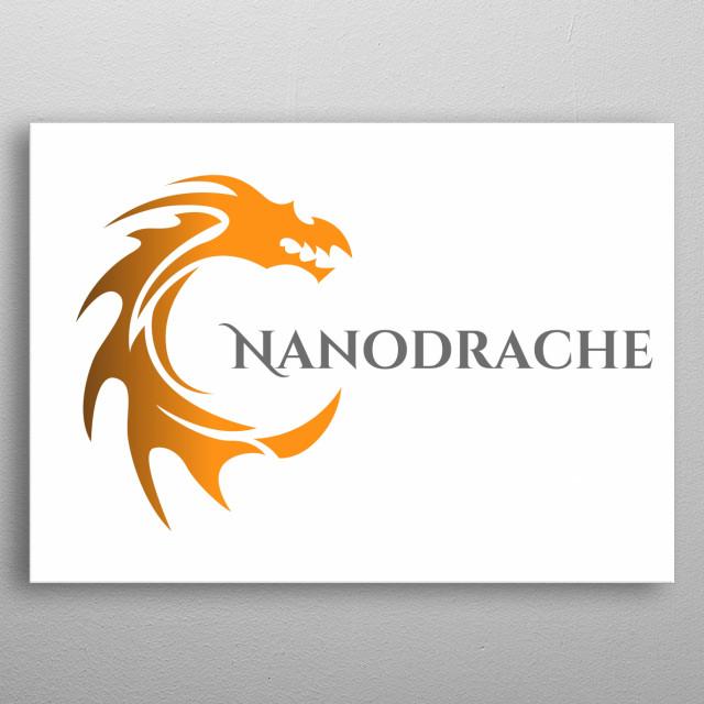 Full Logo from Nanodrache White metal poster