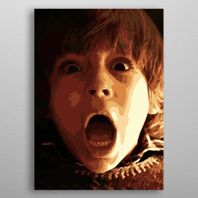 The shining, screaming kid metal poster