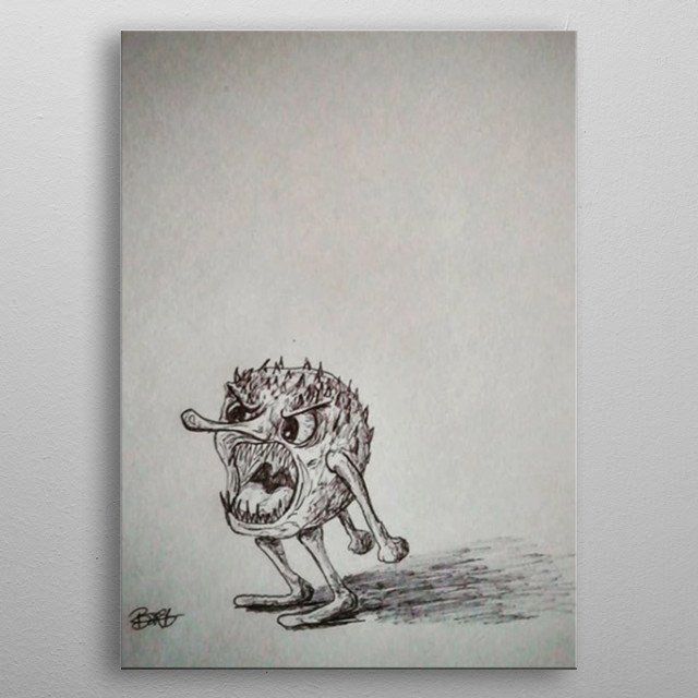 This Prickle Puppet really wants you to stop doing that right now. metal poster