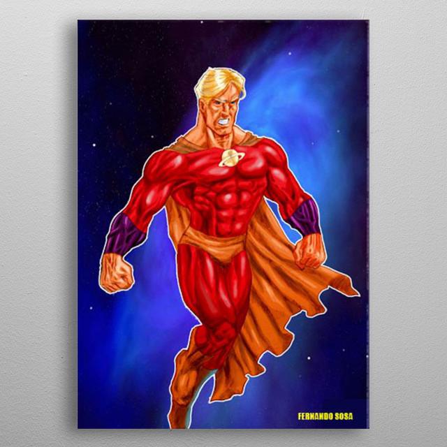 Superhero design  metal poster