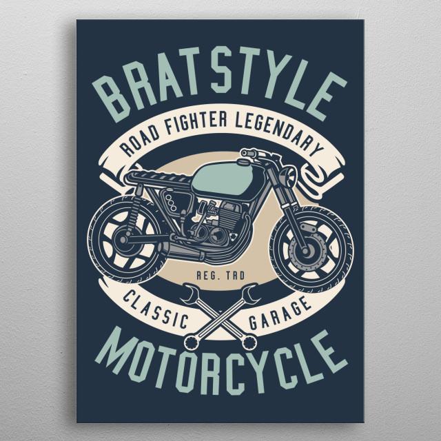 Brat Style metal poster