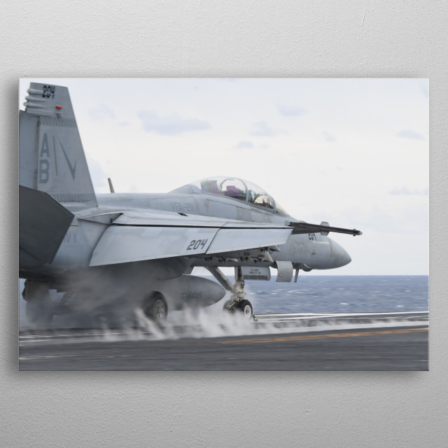Super Hornet is Launched Aboard  metal poster