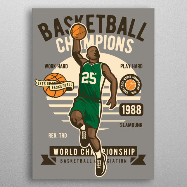 Basketball Champions metal poster
