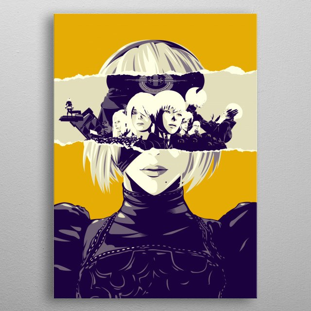 Character poster of YoRHA No.2 Type, Nier Automata metal poster