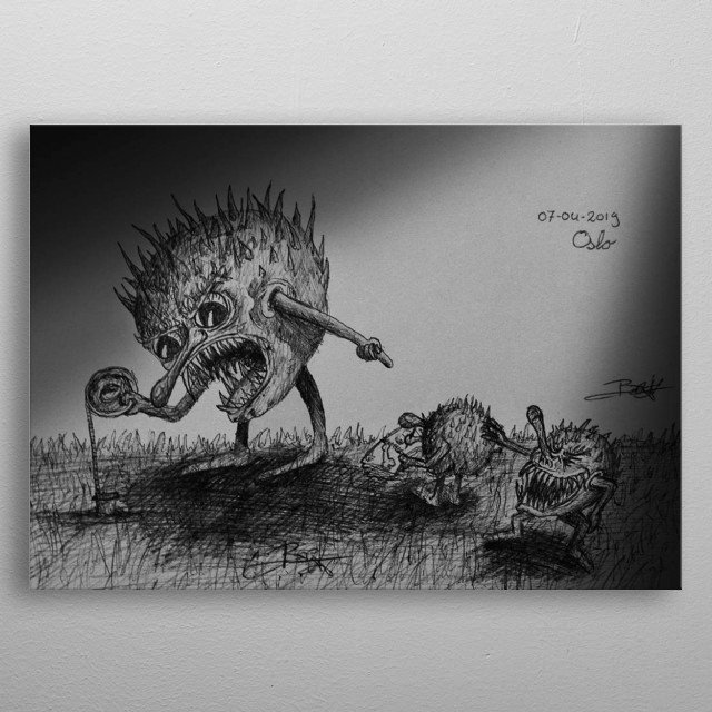 The Prickle puppets do scientific measurements, but the main guy is not taken serious. metal poster