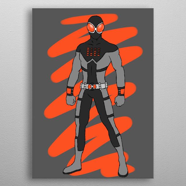 A SuperHero metal poster