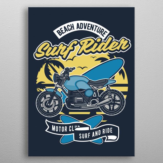 Surfboard Ride metal poster