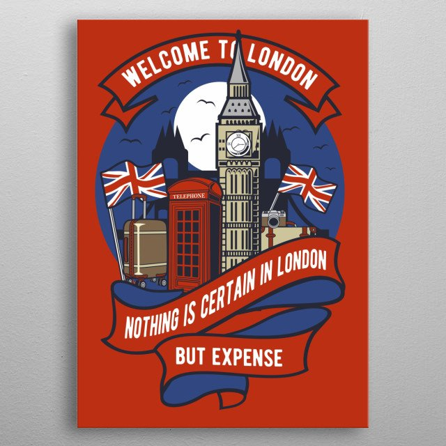 Welcome To London metal poster