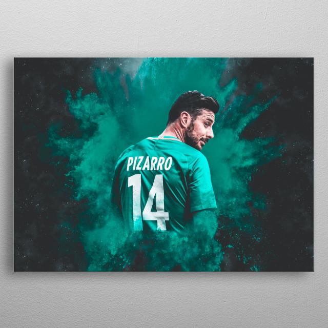 Pizarro Digital Illustration metal poster