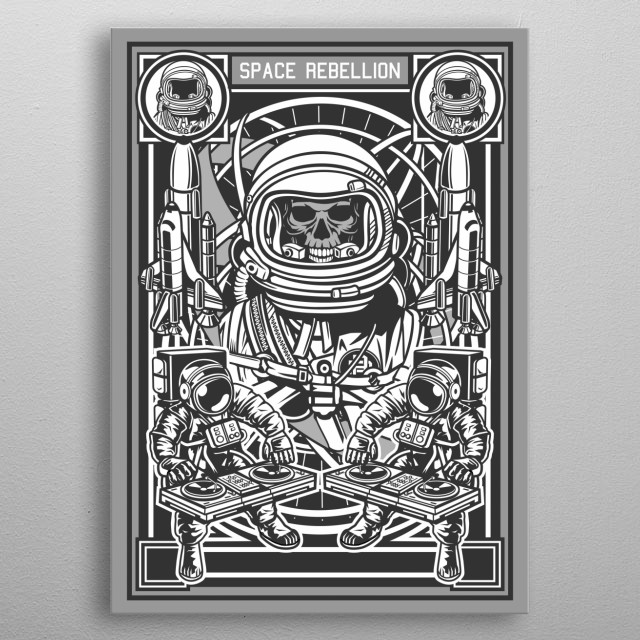 Space Rebellion metal poster
