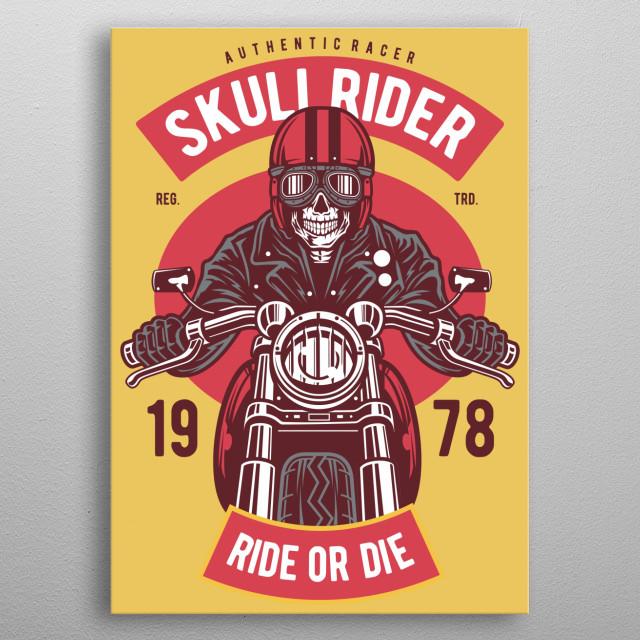 Skull Rider metal poster