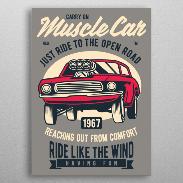 Muscle Car Classic metal poster