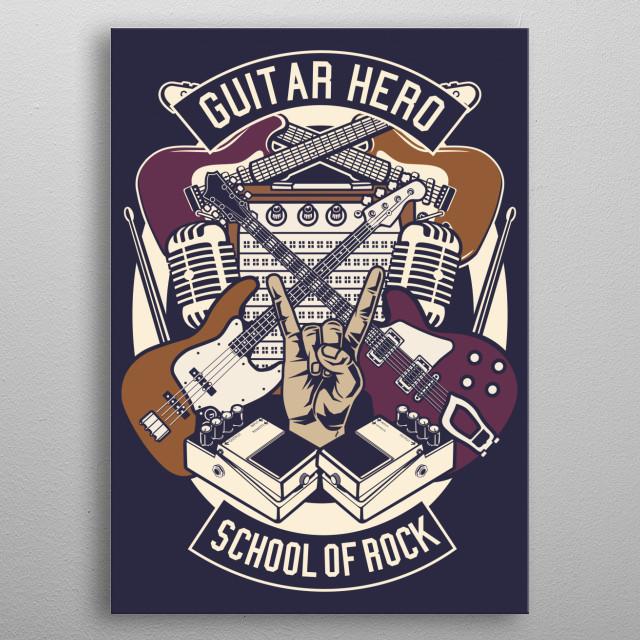 Guitar Hero metal poster