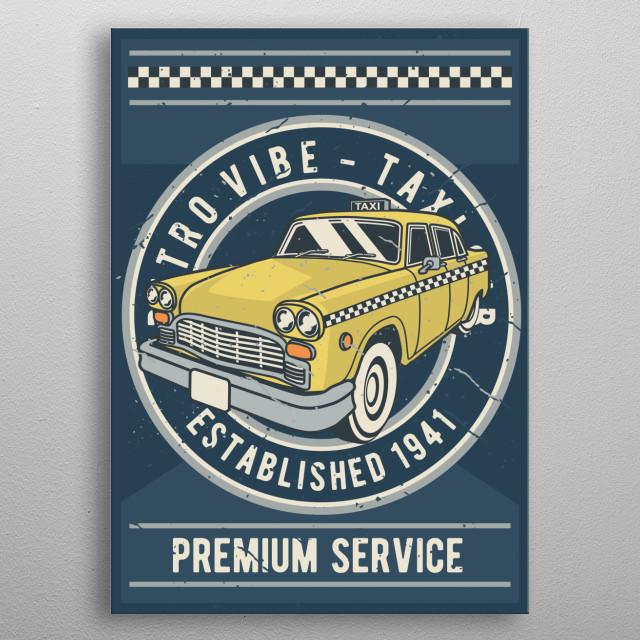 Taxi metal poster