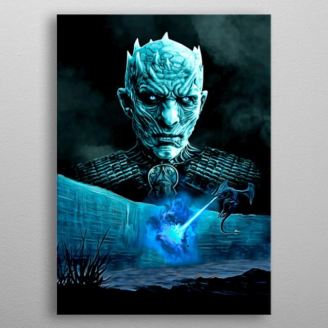 23 I Night King  metal poster