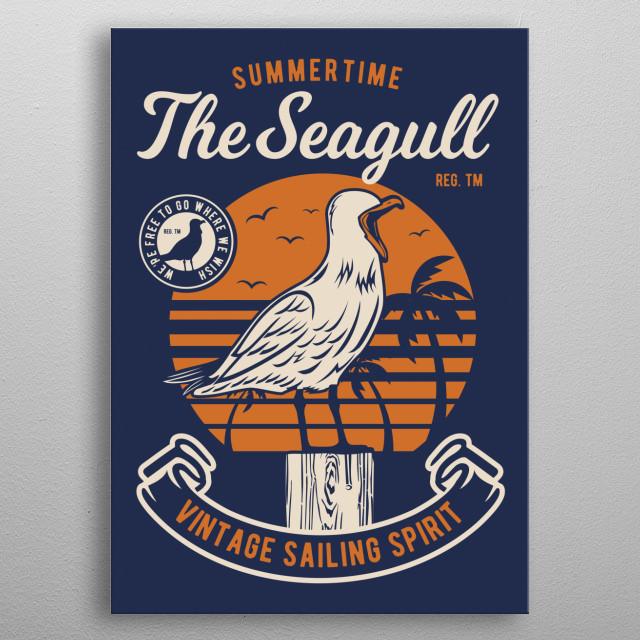 Seagul Bird metal poster