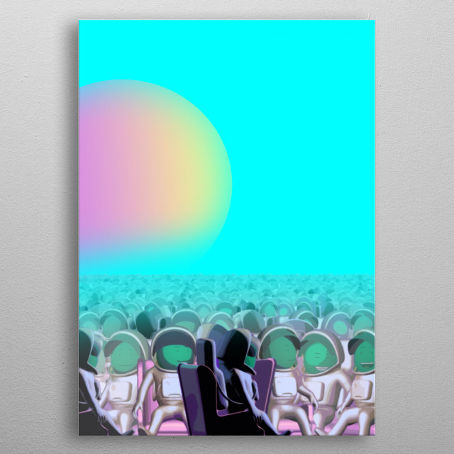 Weenjoy is a self-replicating energy life form which came from a distant universe to hoax and play with humanity's intellect. metal poster