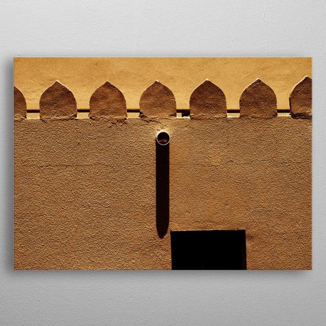 Wall in Oman, Ramlah Qurayyat metal poster