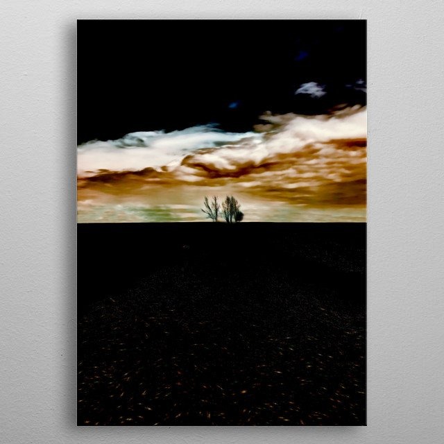 abstract horizon  in the field metal poster