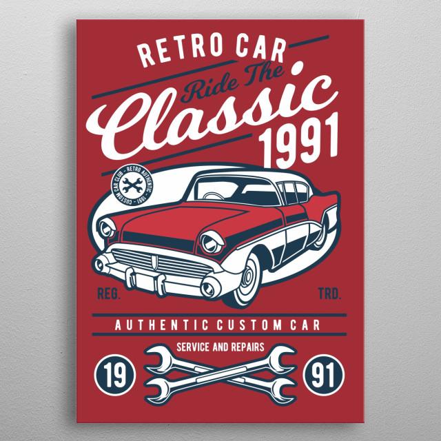 Retro Classic Car metal poster